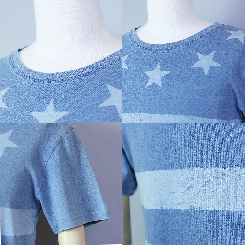 インディゴ染め Tシャツ