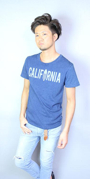 California インディゴ天竺Tee